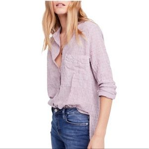 "Free People Tops - NWT Freepeople ""no limits"" button down shirt"